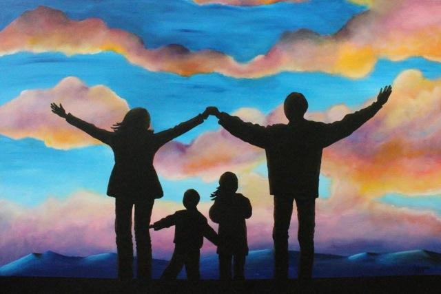 Family - painting by Fabiana